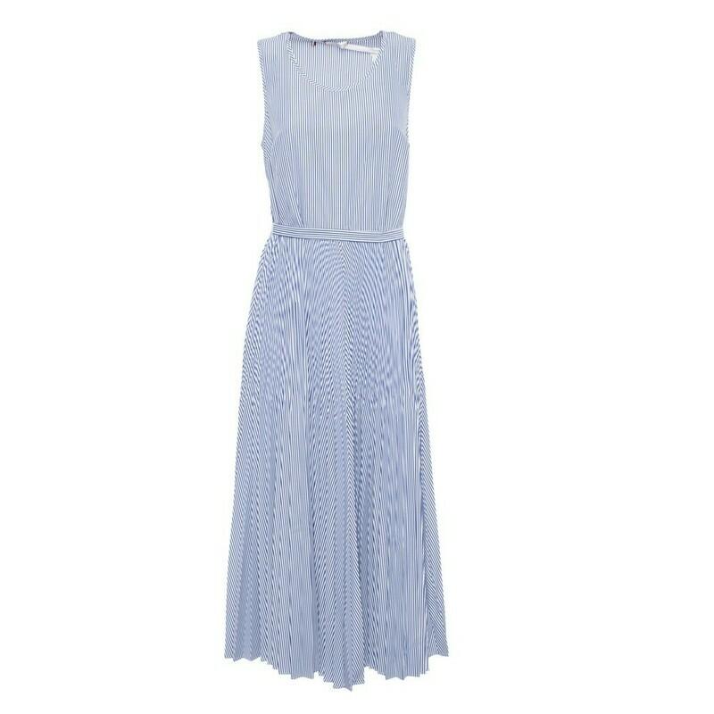 Tommy Hilfiger ujjatlan, nyári, csíkos, női ruha kék-fehér