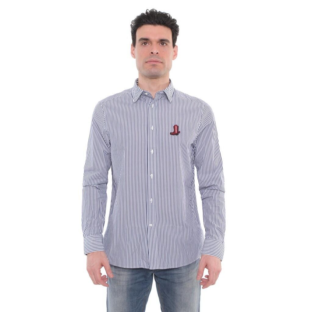 Calvin Klein csíkos férfi ing kék-fehér