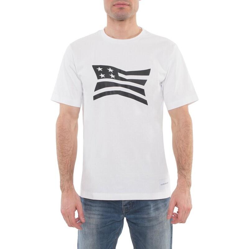 """Calvin Klein Jeans férfi póló, fehér, """"flag"""""""