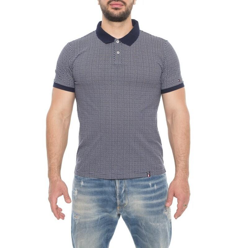 Tommy Hilfiger férfi galléros póló mintás