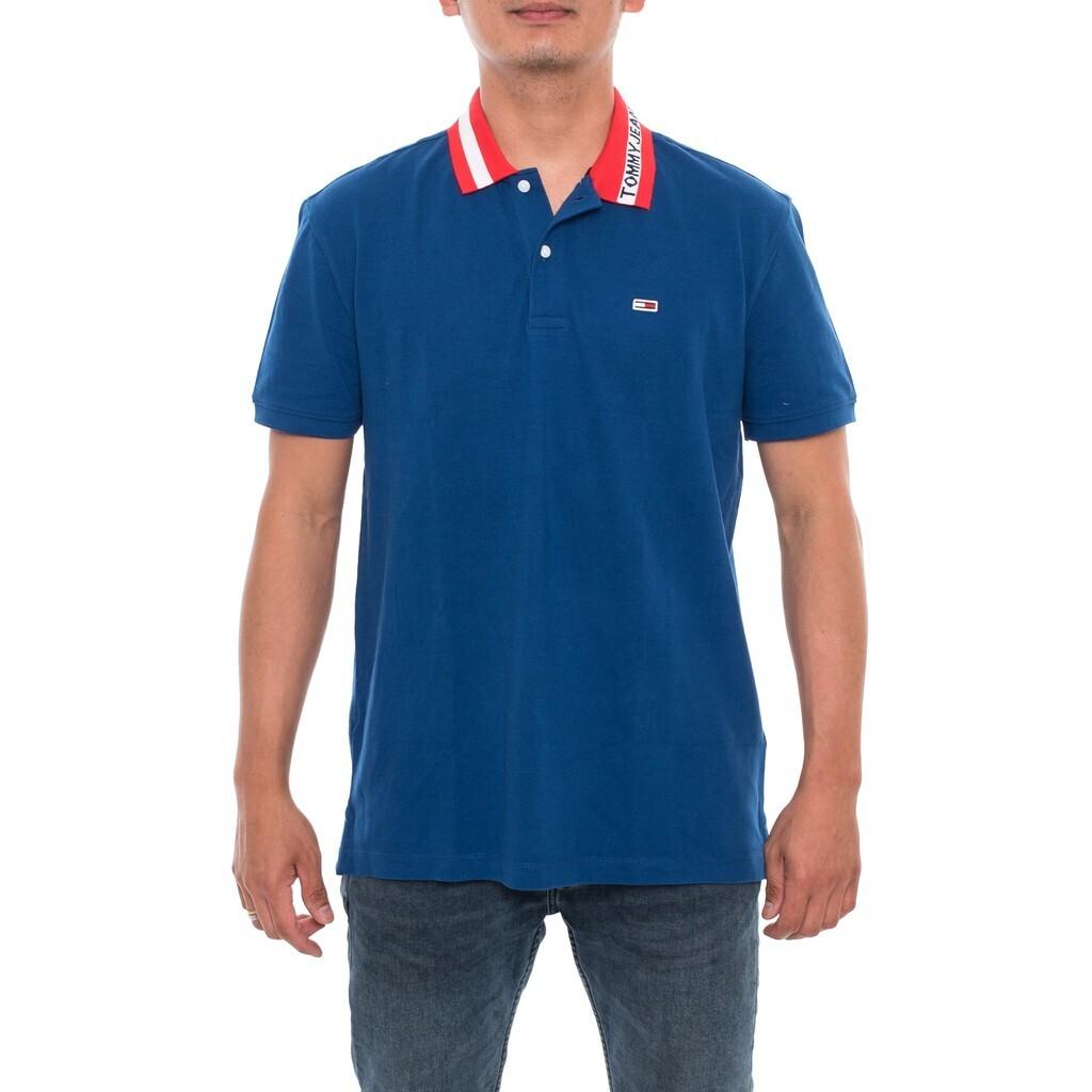 Tommy Hilfiger Jeans férfi galléros póló kék