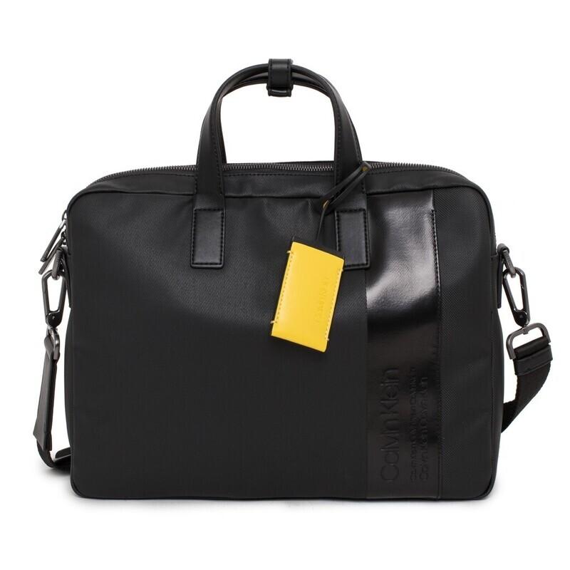 Calvin Klein fekete laptoptáska, irattáska