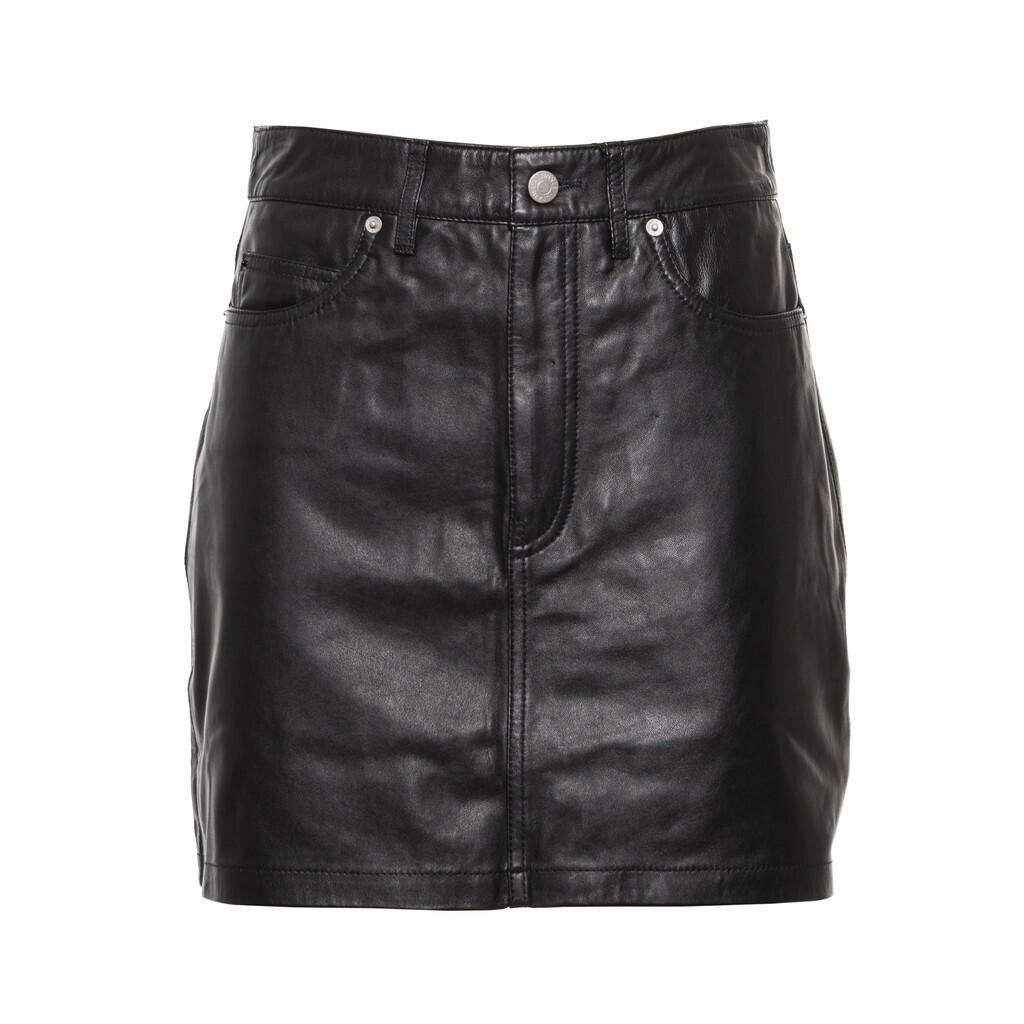 Calvin Klein Jeans fekete miniszoknya ekobőr