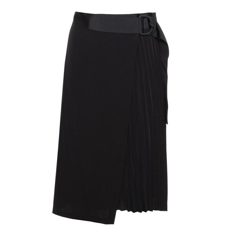 Calvin Klein pliszírozott fekete szoknya