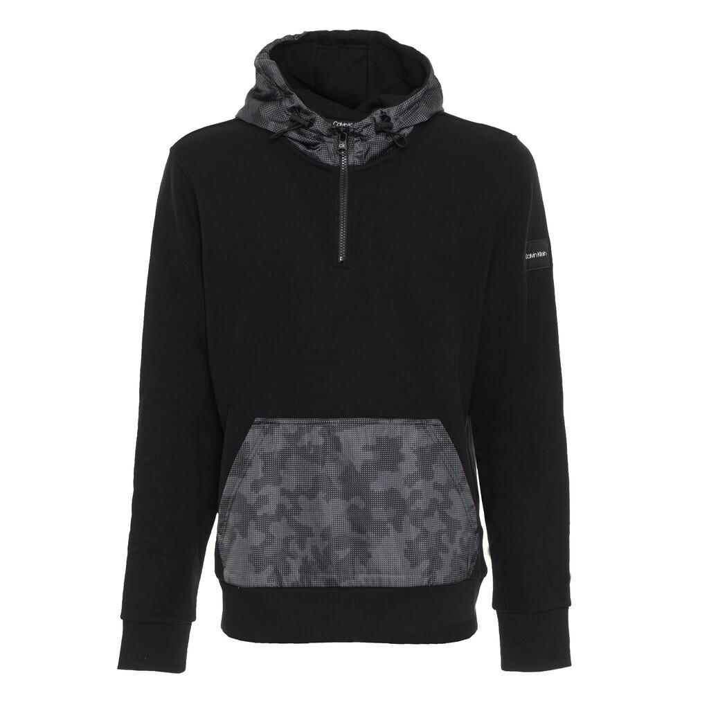 Calvin Klein CK Black fekete kapucnis pulóver terepmintás