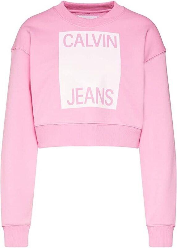 Calvin Klein Jeans női pulóver sweatshirt rózsaszín