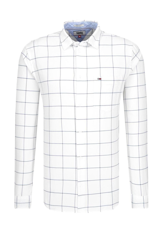 Tommy Jeans fehér, kockás, férfi ing
