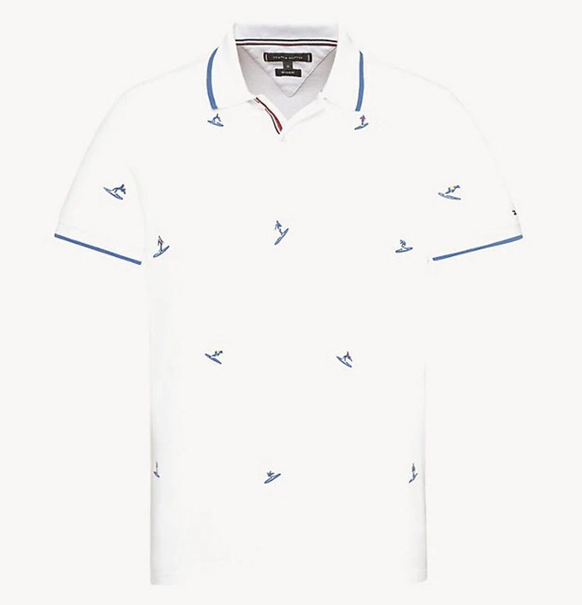 "Tommy Hilfiger férfi galléros póló fehér ""Surf"""