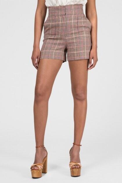 Tommy Hilfiger női rövidnadrág magaderekú kockás