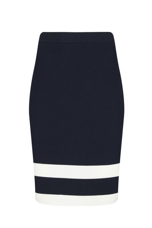 Tommy Hilfiger női szoknya csíkos fekete-fehér