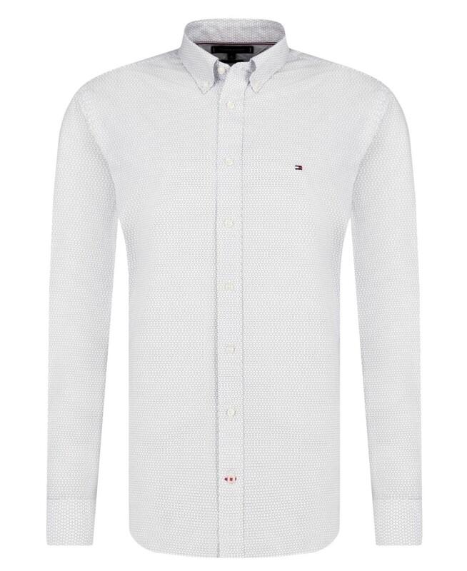 Tommy Hilfiger fehér férfi ing pöttyös
