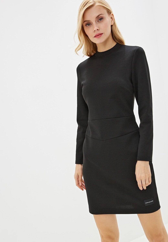 Calvin Klein Jeans fekete hosszú ujjú miniruha