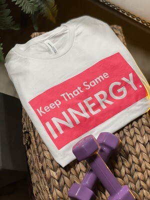White T-Shirt Neon Logo