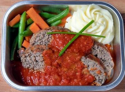 Pain de viande à l'italienne/Italian meat loaf