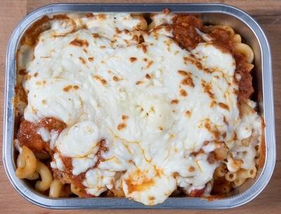 Macaroni à la viande gratiné/Meat sauce macaroni au gratin