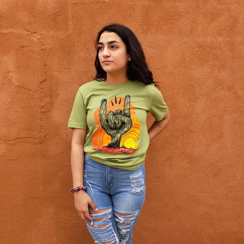 Rock On Cactus Tee