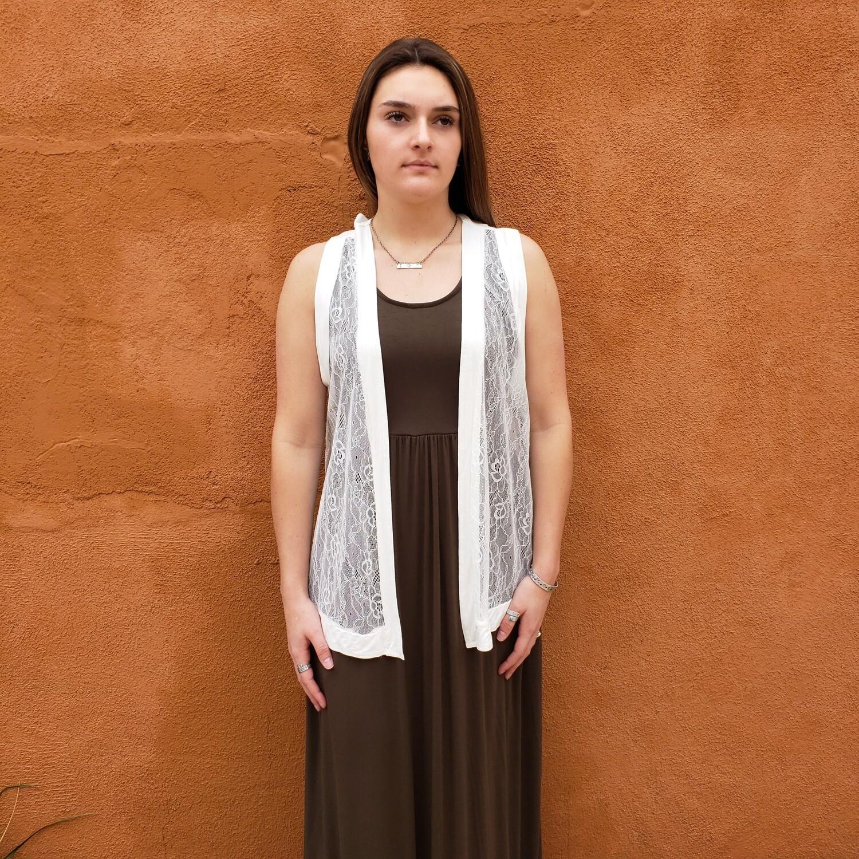 sleeveless lace cardigan