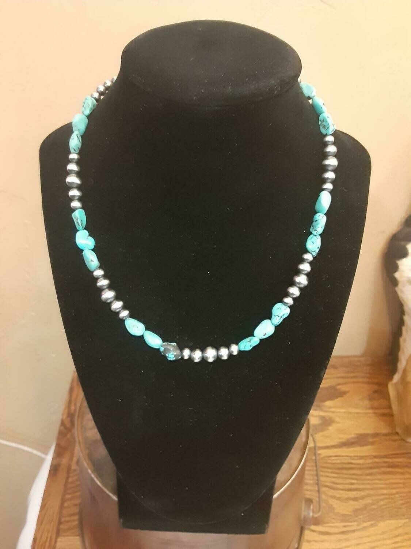 "Navajo Pearl/Turq. 16.5"""