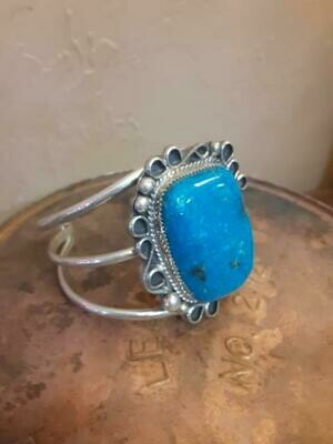 Large Turquoise Silver Cuff