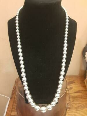 SS Graduated bead necklace 16mm to 5mm