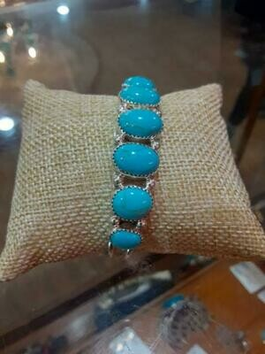 Row Turquoise SS Cuff