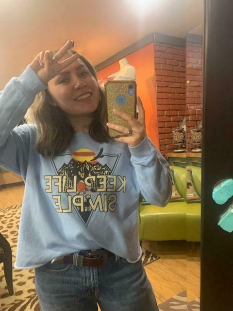 Washed Crop Sweatshirt