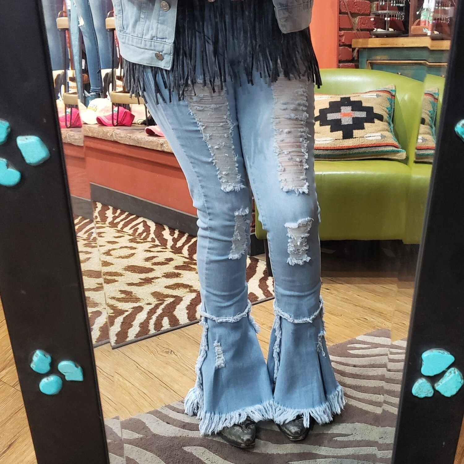 Flare Ripped Jeans