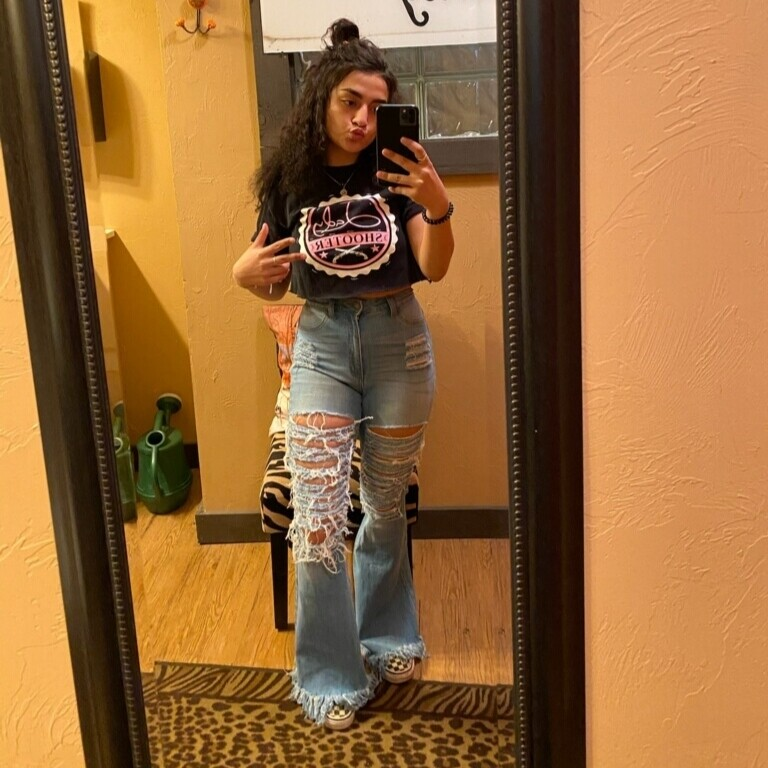 Fringe Flare Jeans