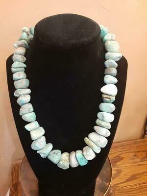 Chunk Turquoise SS Bead #1