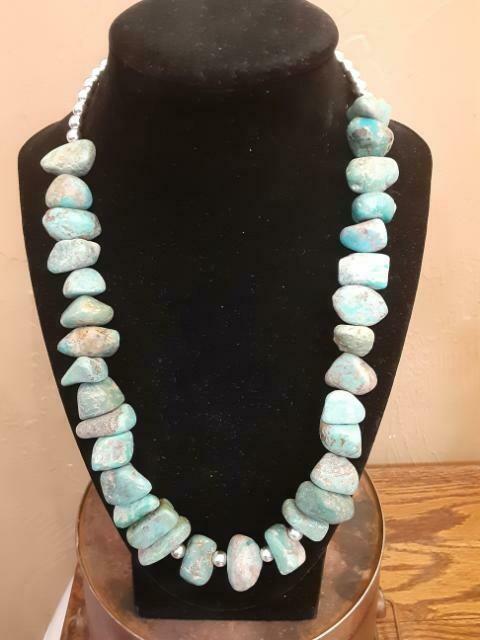 Chunk Turquoise SS Bead #2