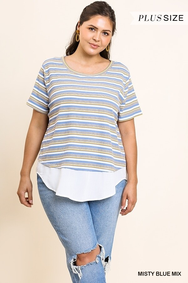 P/S Striped Ribbed Top