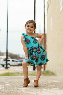 Girls Watermelon Romper