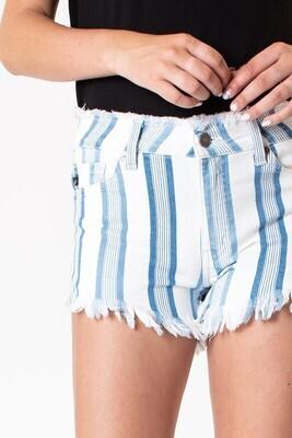 High Rise Stripe Shorts