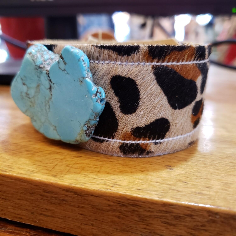 Leopard Turquoise Stone Cuff