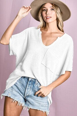 Waffle Patch Top