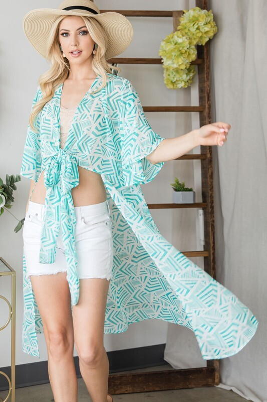 Self Tie Crop Kimono