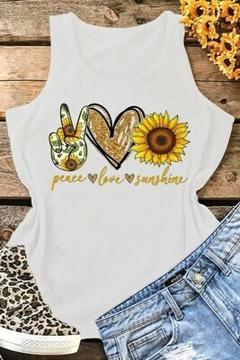 Peace Love Sunshine Tank