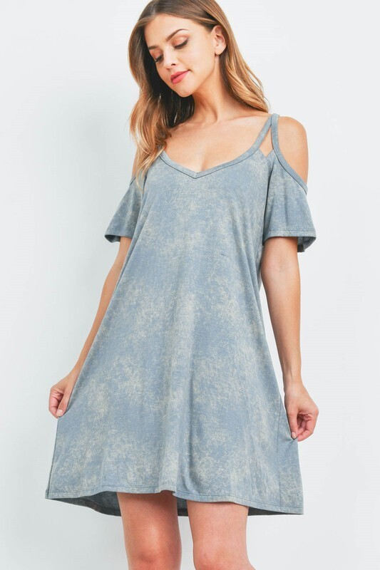 Mineral Cold Shoulder Dress