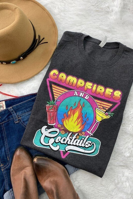 Campfires & Cocktails Tee