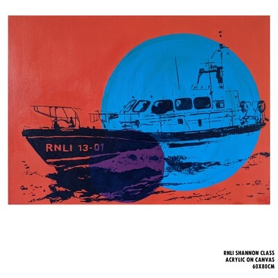 RNLI Shannon Class Lifeboat (Painting)