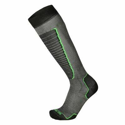 Носки MICO Basic ski 155 nero verde fluo