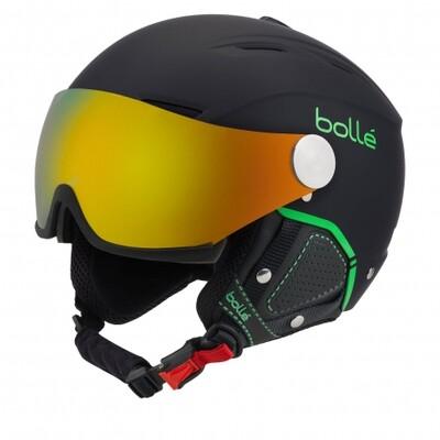 2020 Шлем BOLLE BACKLINE с двумя визорами черн./зел. р. 56-58