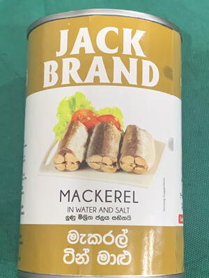 Jack Brand Mackerel Tin Fish 425g