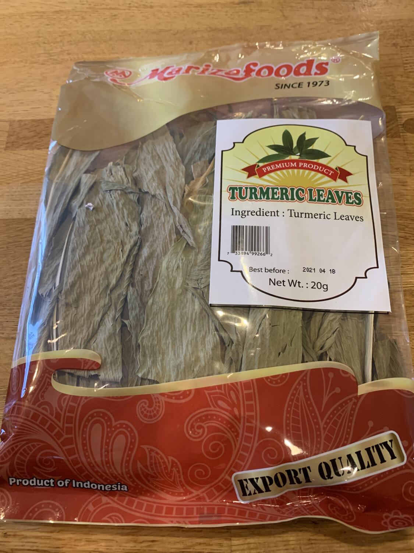 Daun Kunit / Dry Turmeric Leaves 20g