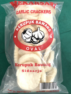 Mekarsari Garlic Crackers With Tuna Oval 160g