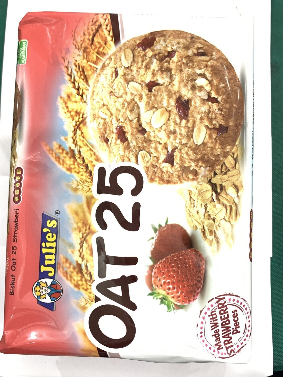 Julies Oat 25 Strawberry Cookies 200g