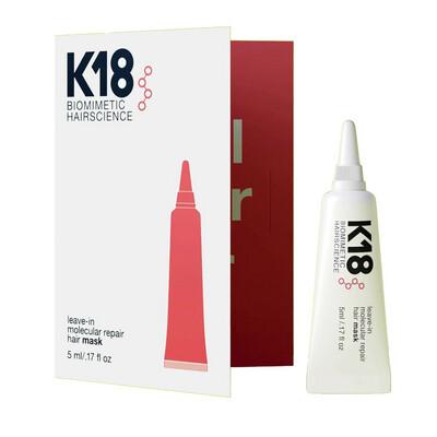 K18 LEAVE-IN MOLECULAR REPAIR MASK 5ml