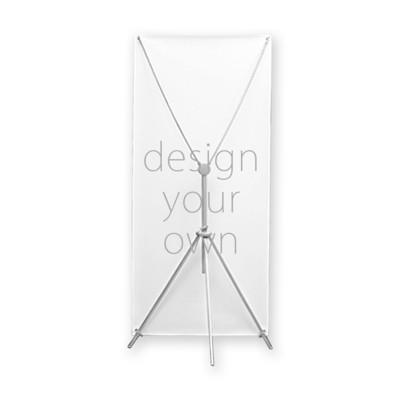 客製 滿版 印花 室內 旗子 X形 看板 Indoor Display Rack