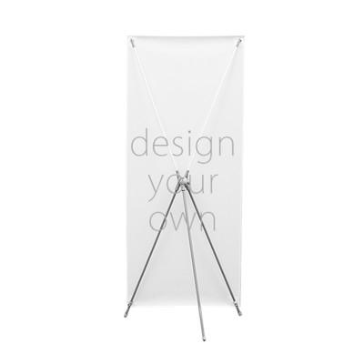 客製 滿版 印花 室外旗子  X形 看板 Outdoor Display Rack