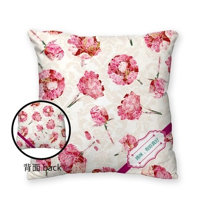 [設計圖樣] 康乃馨 緞帶 方形 抱枕 Carnation Ribbon Square Pillow